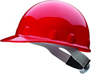 Fibre-Metal by Honeywell SuperEight Thermoplastic Cap-Style Hard Hat with 8-Point Ratchet Suspension, Red
