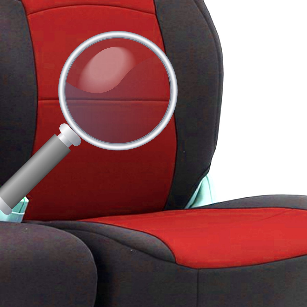 flexzon 2+1 BG7 RED Quality Red Black Fabric Seat Covers