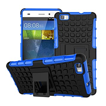 Funda Huawei P8 Lite 2016, Carcasa Protectora Antigolpes Armadura Doble Capas a Prueba de Choques Caída Protección Robusto Case con Soporte para ...