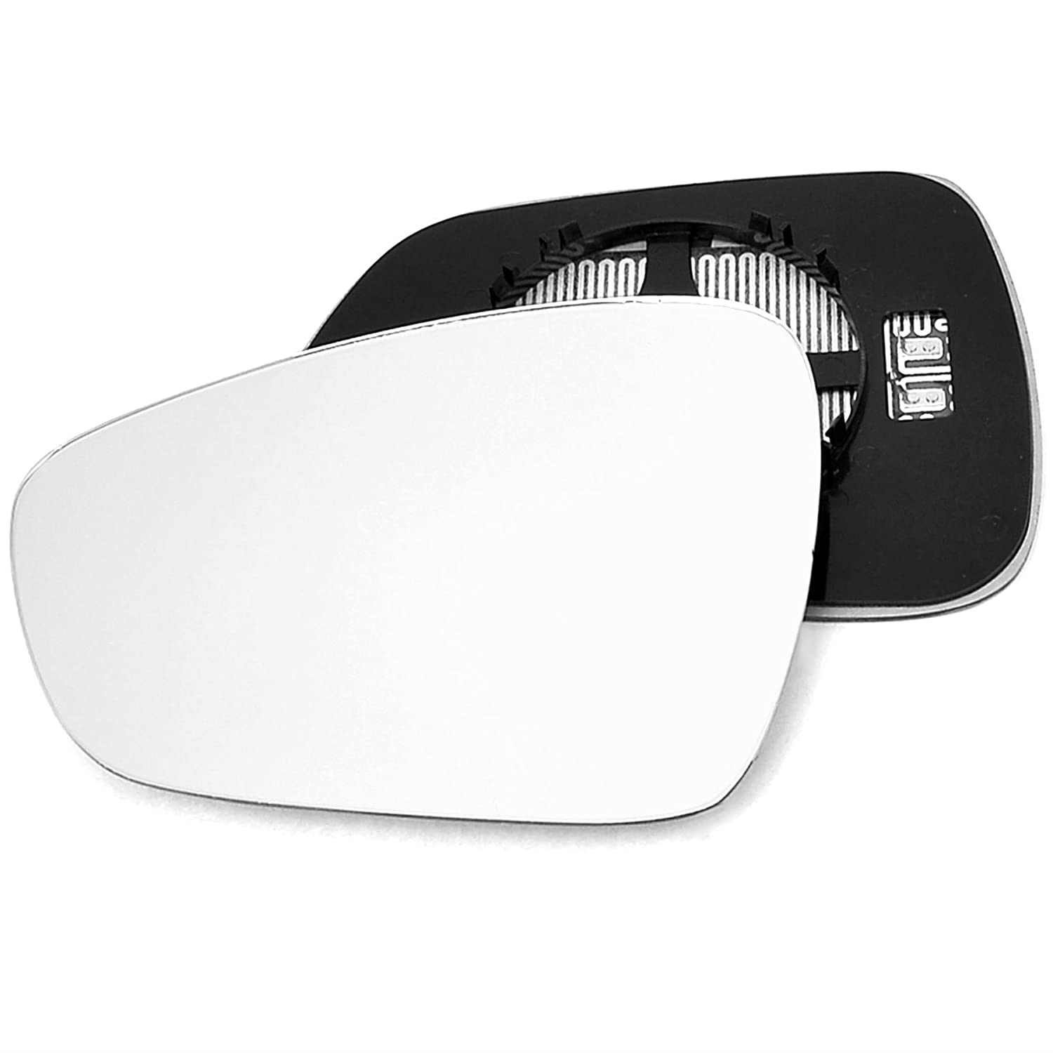 For Citroen C3 2009-2016 Passenger left hand side wing door mirror convex glass heated with backing plate Sylgab