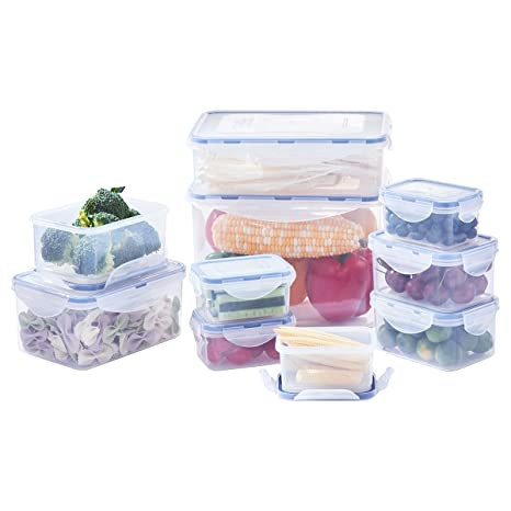 Amazon.com: Food Storage Containers with Lids, Airtight Leak Proof ...