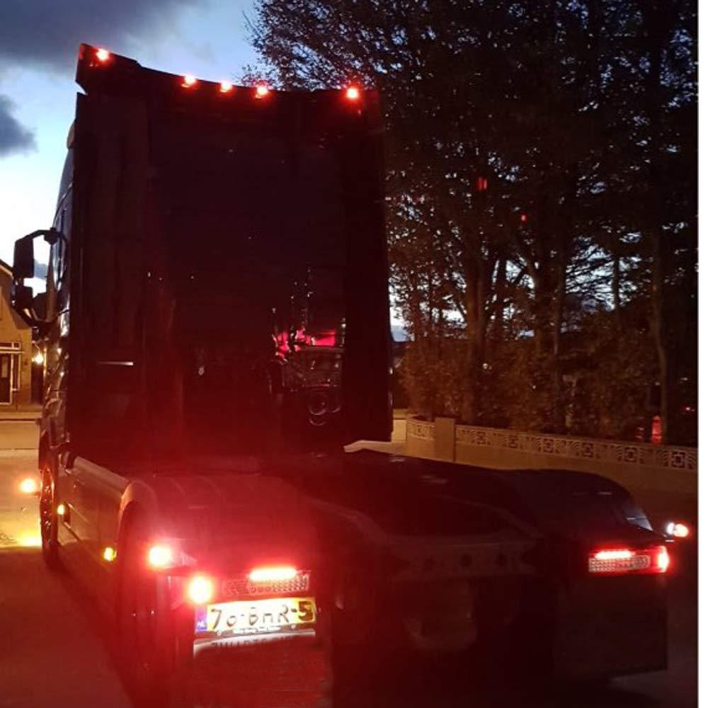 PolarLander 10PCS Set 2 LED Auto Car Truck Trailer Caravan Side Marker Light Clearance Lampe 12V 24V Rouge Couleur Universel