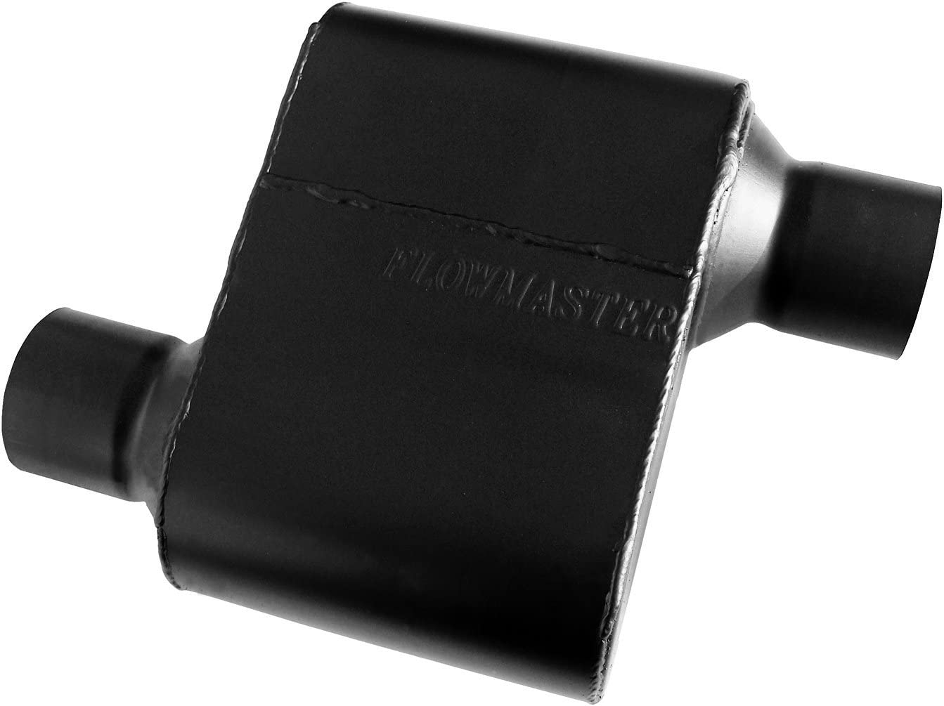 Flowmaster 842518 Super 10 Muffler 409S - 2.50 Offset IN / 2.50 Offset OUT - Aggressive Sound,Black