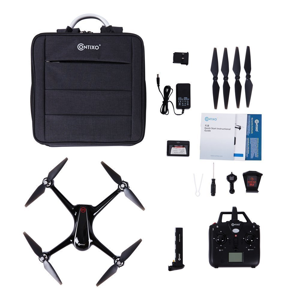 Holiday Special! Contixo F18 Advanced GPS Assisted RC Quadcopter 1080P HD Live FPV 5GHz Wifi Video Camera Drone Smart RTH Hovering Brushless Motors-Carrying Back Pack $50 Value Best Gift For Christmas by Contixo (Image #9)