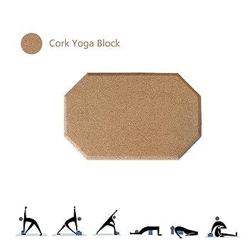 Bloque de Yoga Corcho,1 Pieza o 2 Piezas Hexágono Alta ...
