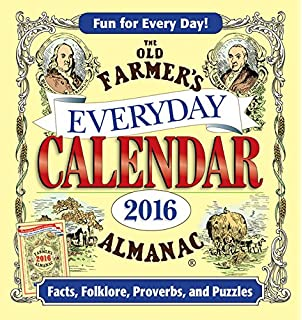 The Old Farmers Almanac 2016 Gardening Calendar Old Farmers