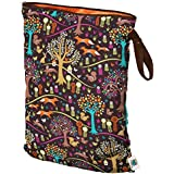 Planet Wise Wet Diaper Bag, Jewel Woods, Large