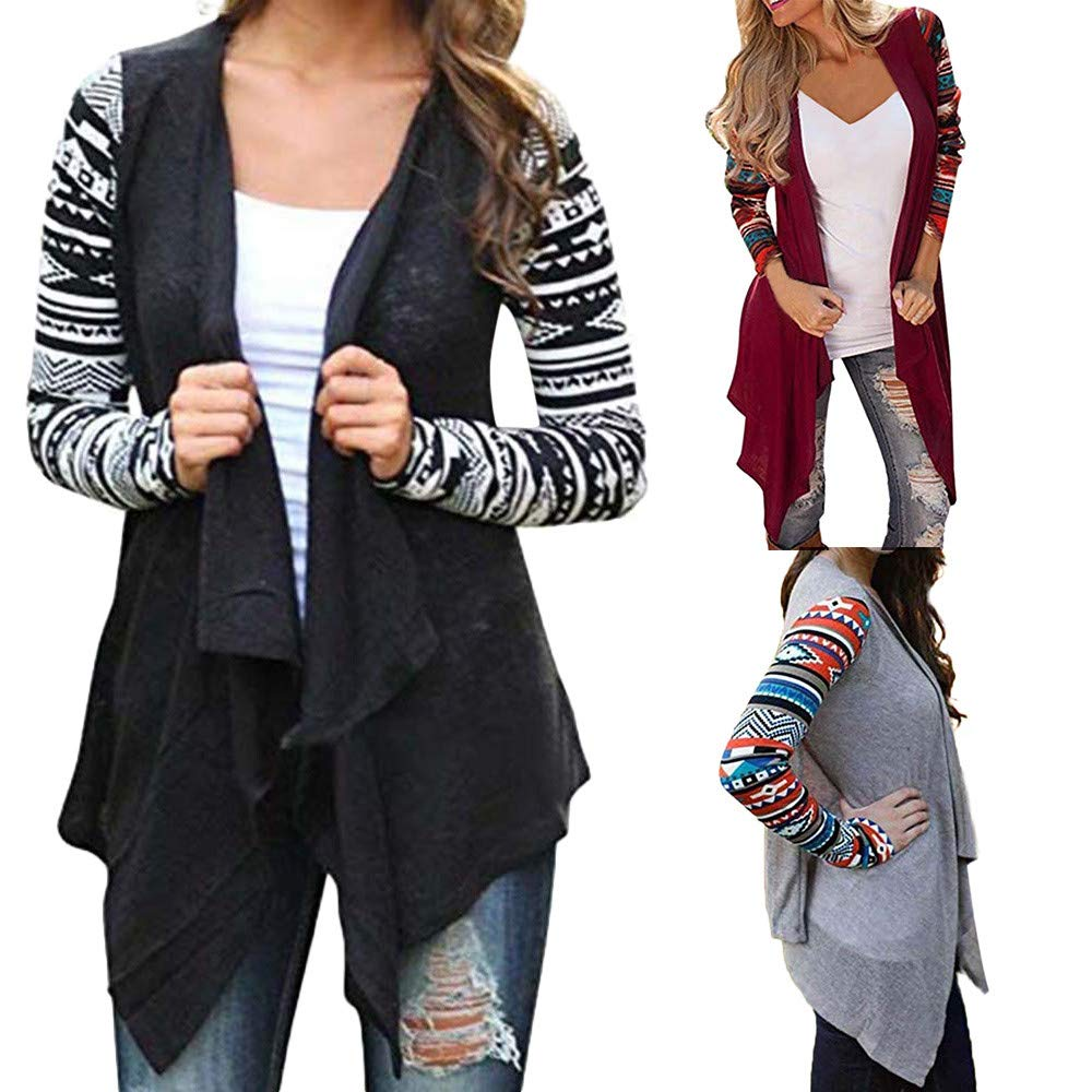7f9d00a4ad1f6 YKARITIANNA Womens Winter Warm Color Block Cable Long Sleeve Knitted  Cardigan Outwear Tops Coat Sweater at Amazon Women's Clothing store: