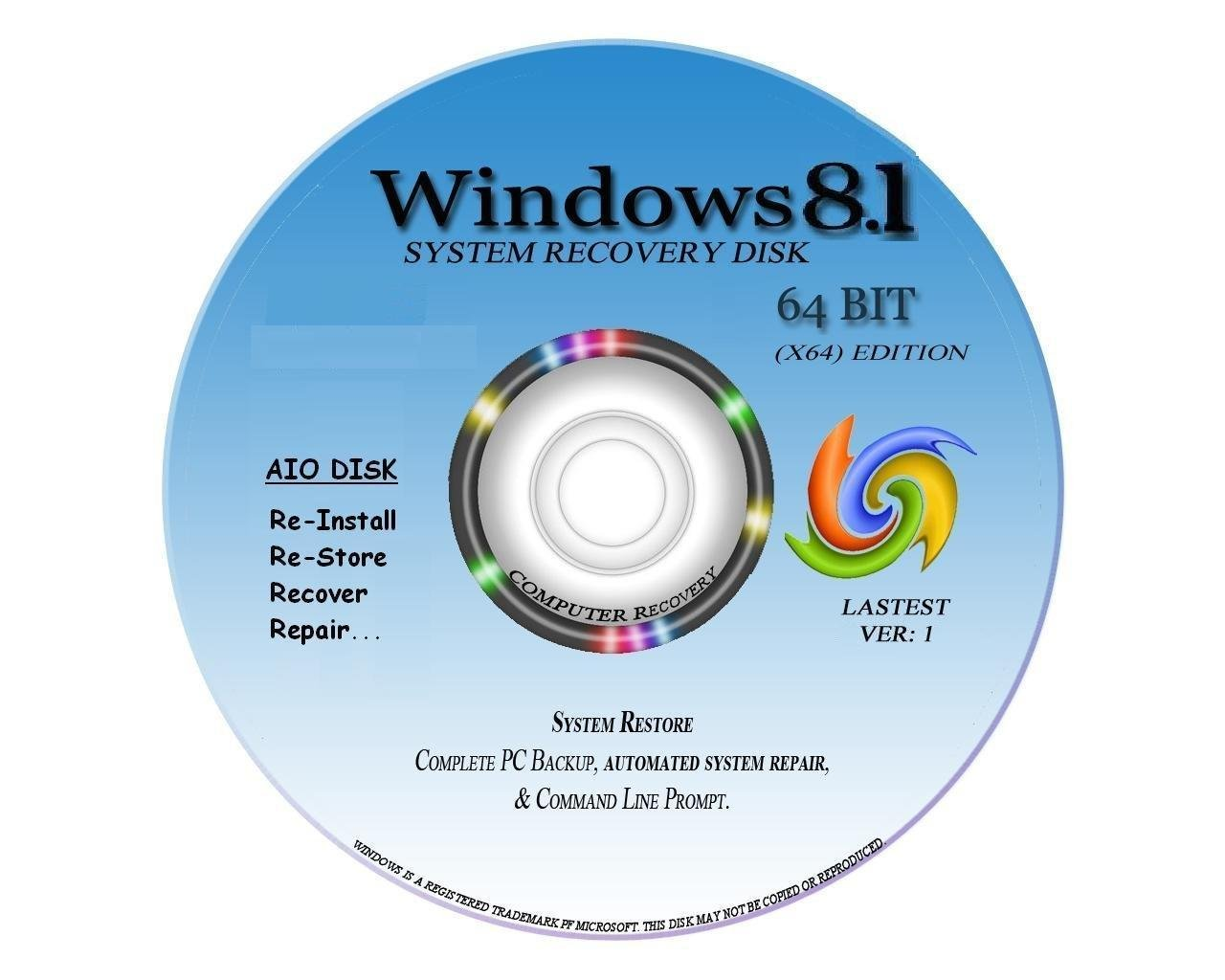 Windows rg edition - New Total Complete Re Install Repair Restore Windows 8 1 Core And Professional Or Professional With Media Center Edition 64 Bit Amazon Co Uk