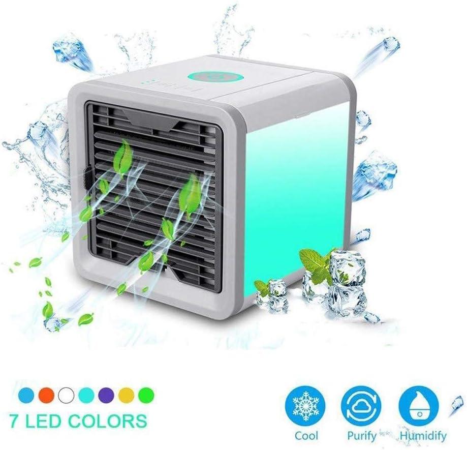 ymx-1 Aire Acondicionado de Mesa Refrigerador de Aire Purificador de Aire Acondicionador USB Aire Acondicionado Aire Mini Enfriador Humidificador móvil y portátil Ventilador Mini: Amazon.es: Hogar