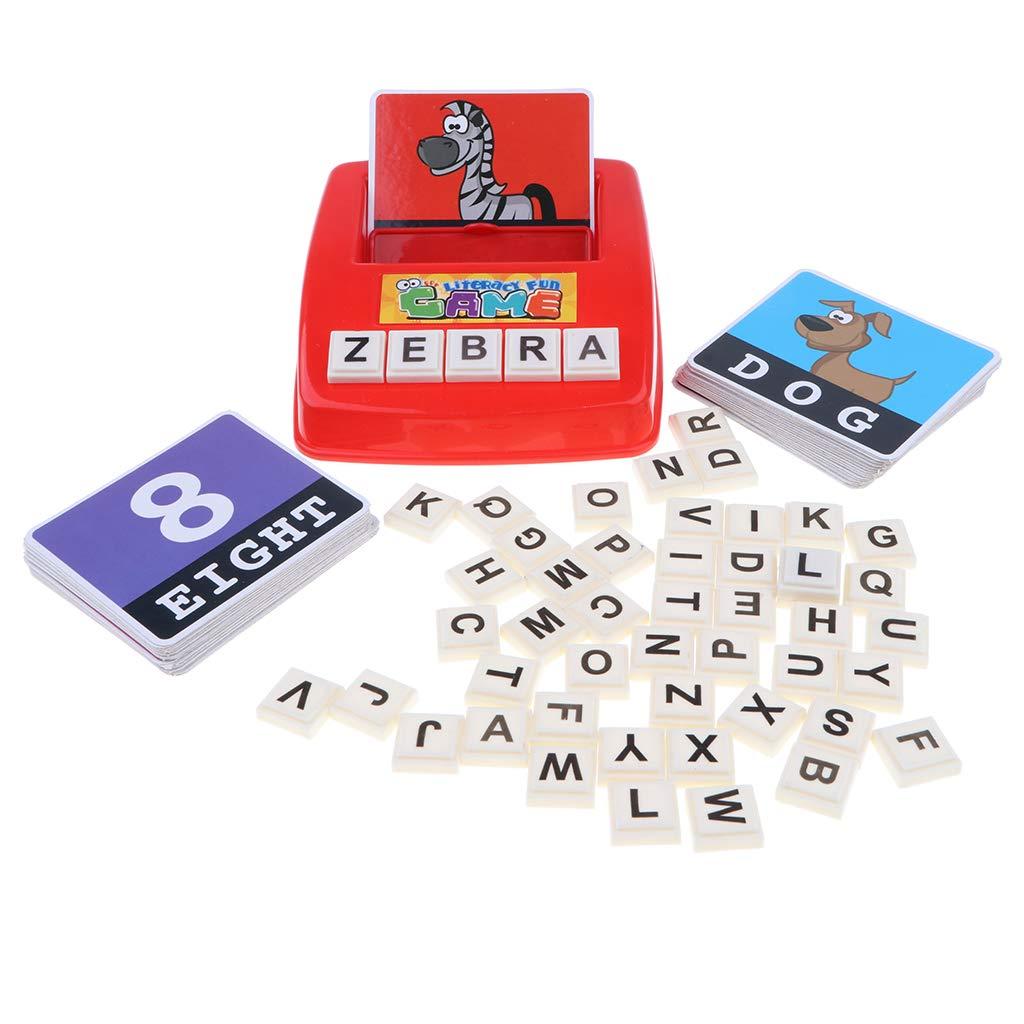 Fenteer Kit Jouet d'écriture orthographique Word ABC