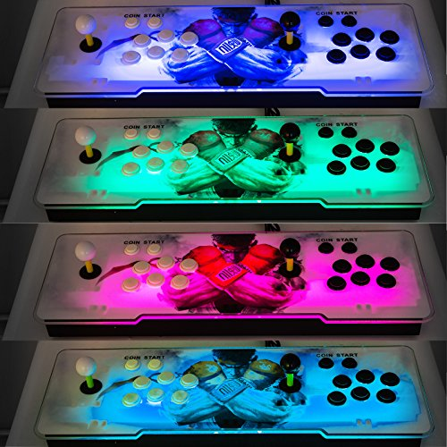 Happybuy Video Game Console, Arcade Machine 1500 Classic Games, 2 Players Pandora's box 5S multiplayer home Arcade Console 1500 Games All in 1 NON-JAMMA PCB Double Stick Newest Design Buttons Power HD by Happybuy (Image #7)