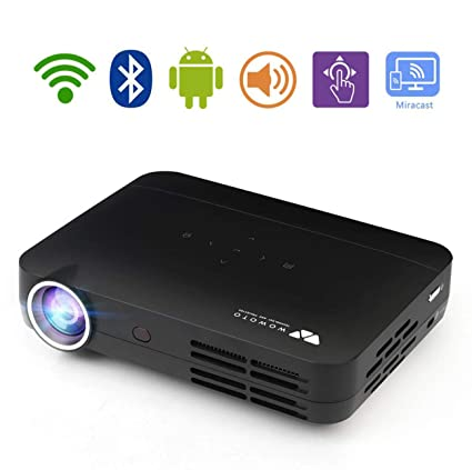 Mini Proyector, DLP LED Android Smart Pico Projection Office Home ...