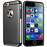 iPhone 6 Case,iPhone 6S Case, High Impact Heavy Duty Armor Hybrid Dual Layer Hard PC Outer Shell and Soft TPU Inner Defender Bumper Protective Case for Apple iPhone 6 6S (4.7) (Gray)