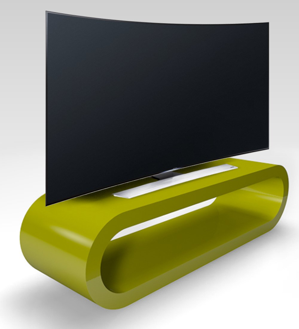 Zespoke Retro Style Hoop Large Tv Stand / Cabinet 110cm Wide (Green Gloss)