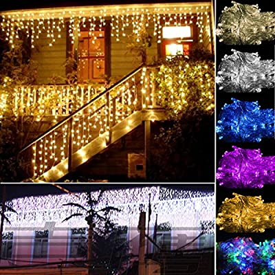 Lainin 3.5M/11ft 96 LED Fairy Curtain Light String Light with 8 Modes For Indoor/Outdoor/Garden/Wedding/Christmas Party Holiday Decoration