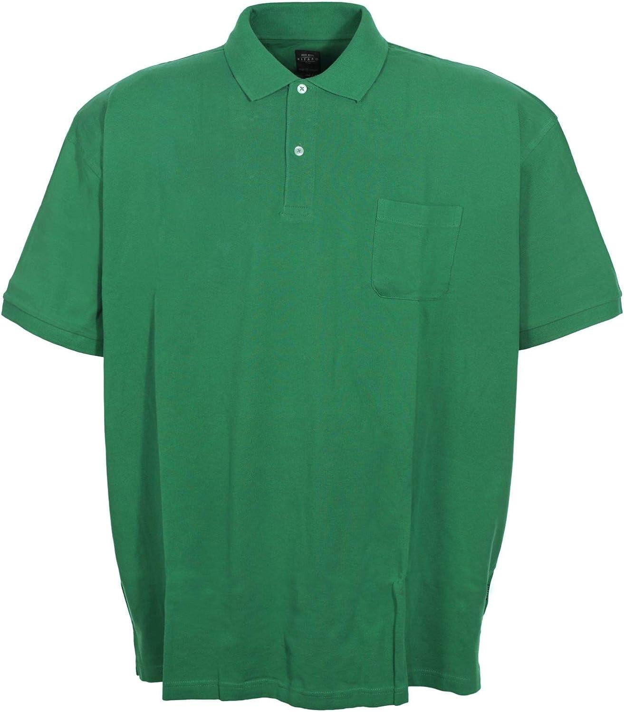 Kitaro Polo Poloshirt Shirt Herren Kurzarm Baumwolle Piqu/é Plusgr/ö/ße