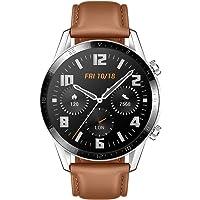 Huawei Watch GT 2 Classic - Smartwatch con Caja de 46 mm (hasta 2 semanas de batería, Pantalla táctil AMOLED de 1.39, GPS, 15 Modos Deportivos, Llamadas Bluetooth) Color marrón