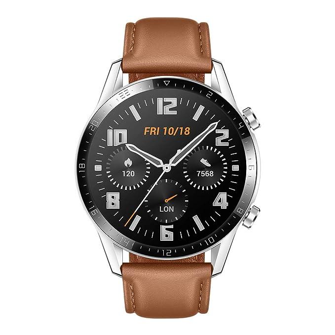 Huawei Watch GT 2 Classic - Smartwatch con Caja de 46 mm (hasta 2 semanas de batería, Pantalla táctil AMOLED de 1.39, GPS, 15 Modos Deportivos, ...
