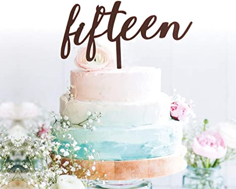 Super Amazon Com Grantparty Fifteen Rose Gold Cake Topper 15Th Funny Birthday Cards Online Eattedamsfinfo