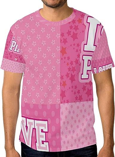 DEZIRO I Love Pink - Camiseta de Manga Corta para Hombre ...
