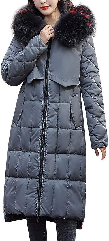 Femmes Doudoune Longue Manteau Zippé éPais Chaud d'hiver