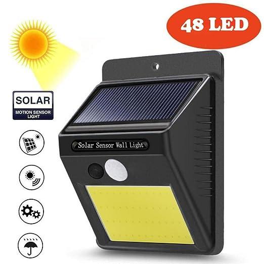 STRIR Foco Solar,Luces Solares 48 LED,800mAh Lámparas Solares de Pared Impermeable,