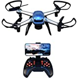 Wifi FPV RC Drone with HD Camera Headless Mode 2.4GHz 6Chanel 6 Axis Gyro RTF RC Quadcopter with Altitude Hold Mode and One Key Return
