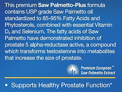 Amazon Com Saw Palmetto Plus Premium European Extract With Selenium And D3 Health Personal Care