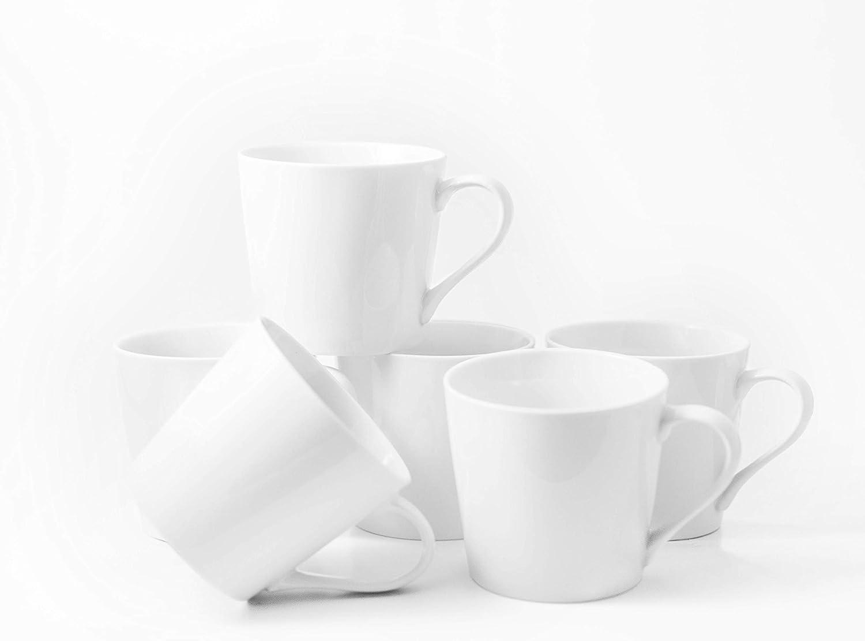 Set of 6-18 oz Grande Mugs Amuse Professional PorcelainBistro Collection