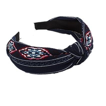 BIGBOBA Hairbands Vintage Floreale Stampato Twisted Elastico Fasce Fasce  per Donne e Ragazze Accessori per Capelli 6d8421352ac2