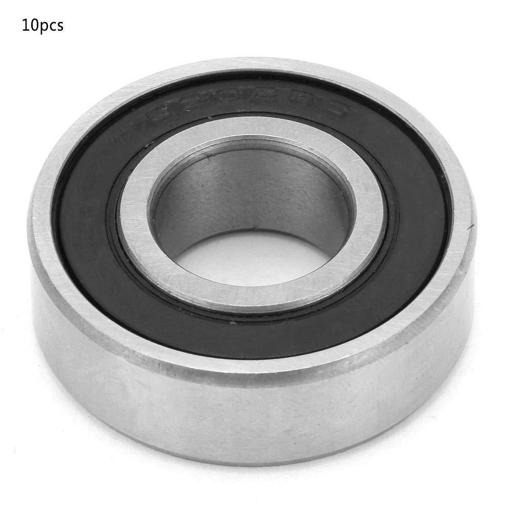 10pcs 6202-RS Roulements /à Billes 15mm 0.6in de Cannelure Profonde en Acier /à Roulement