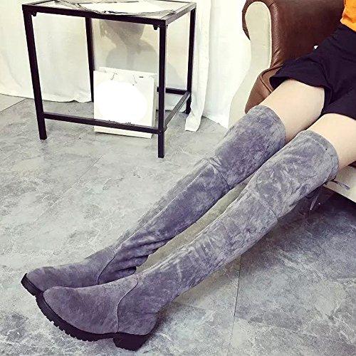 Bottes et Boots Femmes Milieu Long High Knee Talon Automne Hiver Mode Covermason Bas Bottes Leg 1RTdqw1