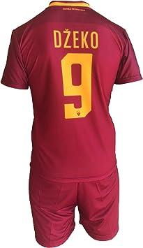 Complete Pantalones y Camiseta de fútbol Roma Edin Dzeko 9 Réplica Autorizados 2017 – 2018 Niños Niño Hombres: Amazon.es: Deportes y aire libre