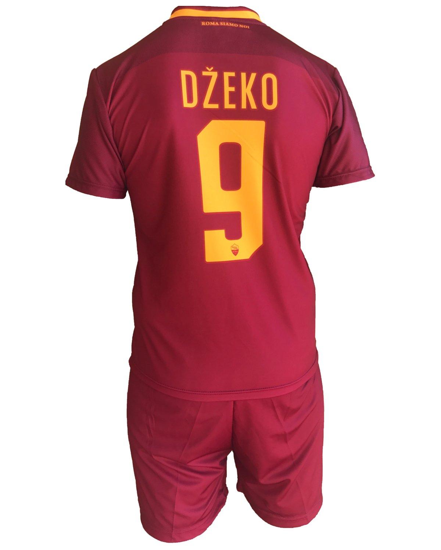 Complete Pantalones y Camiseta de fútbol Roma Edin Dzeko 9 Réplica Autorizados 2017 - 2018 Niños Niño Hombres: Amazon.es: Deportes y aire libre