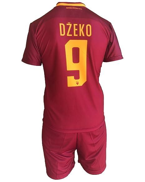 Complete Pantalones y Camiseta de fútbol Roma Edin Dzeko 9 Réplica Autorizados 2017 – 2018 Niños
