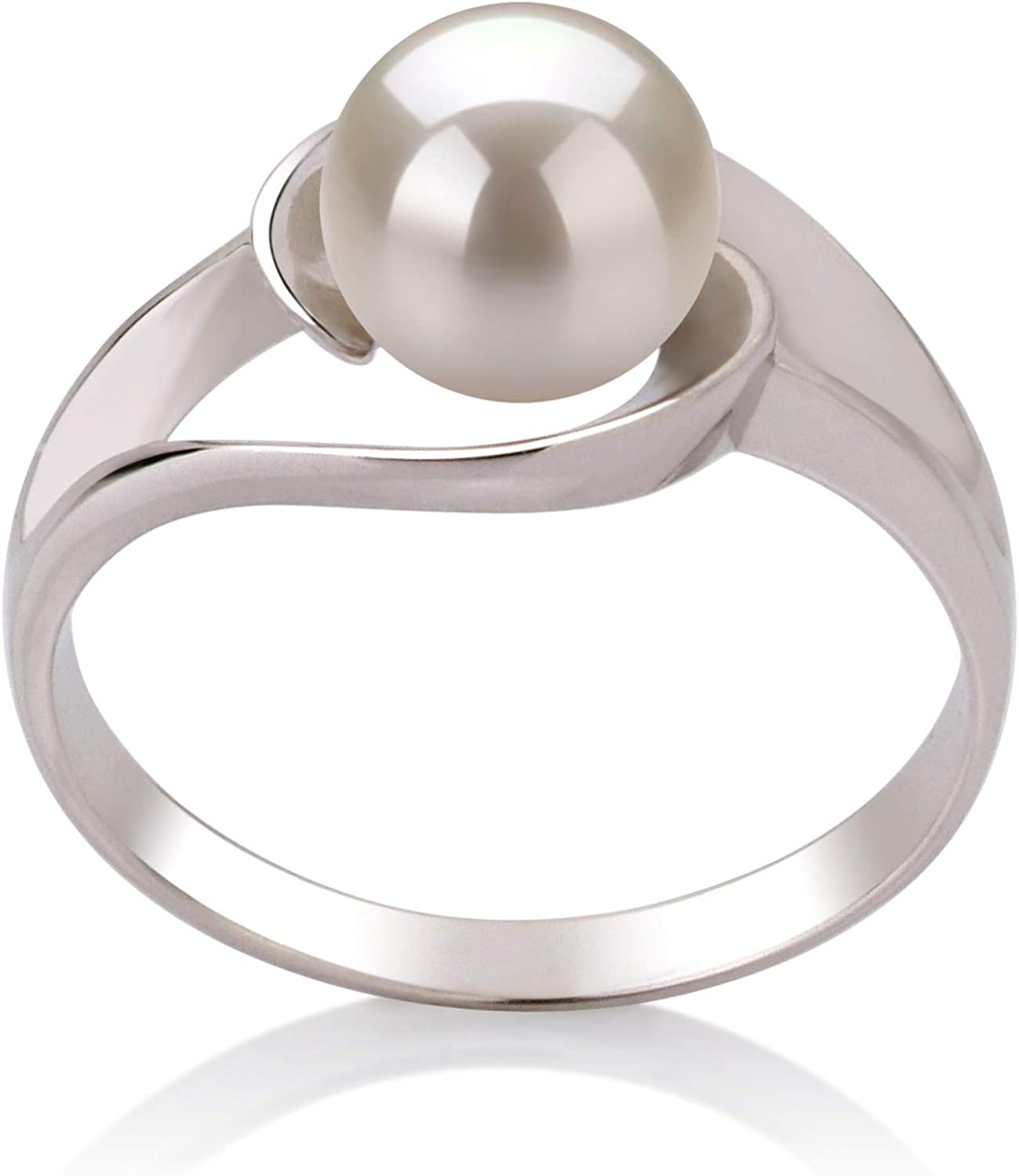 Clare White 6-7mm AAA Quality Freshwater 925 Sterling Silver Cultured Pearl Ring For Women