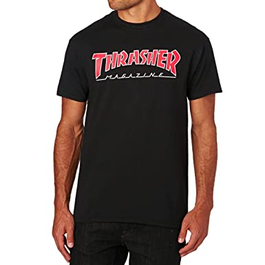 529c2a682f2 THRASHER T-SHIRT OUTLINED BLACK: Amazon.co.uk: Clothing