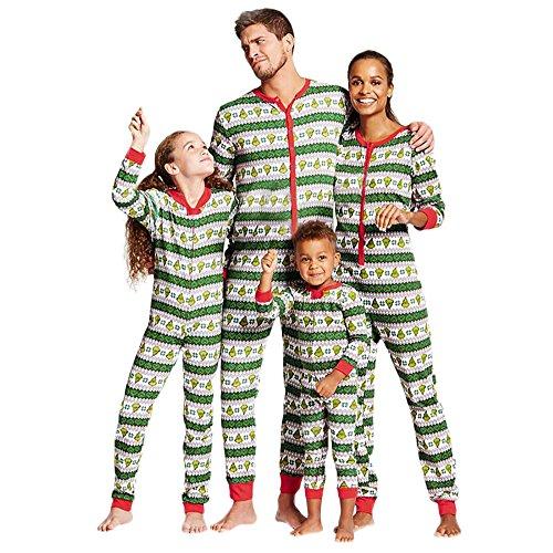 WensLTD Family Matching Xmas Pajamas Set - Women Men Boys Girls Kid Adult PJs Sleepwear Nightwear (XL, Men-Green)]()