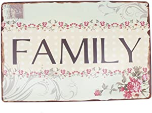 12x8 Inches Pub,bar,Home Wall Decor Souvenir Hanging Metal Tin Sign Plate Plaque (Family Stamp)