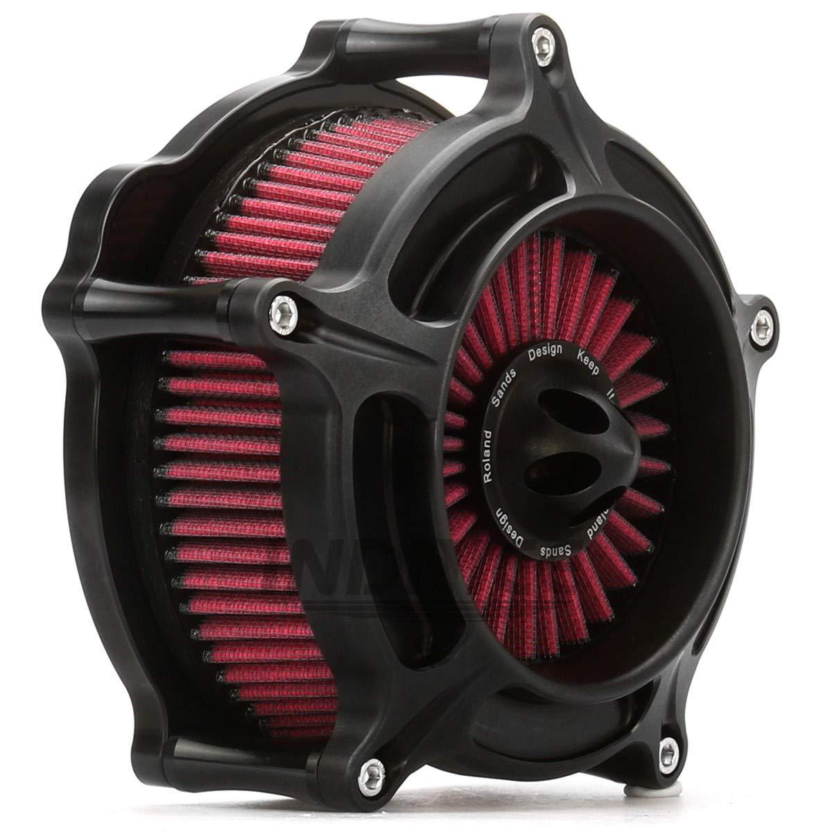 Filtro aspirazione moto Black Turbine Air Cleaner per Harley Sportster 1200 883 Forty Eight 91-15