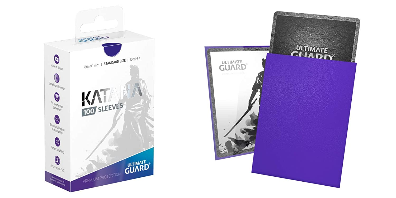 Standard Size 66 x 91 Ultimate Guard KATANA Card Sleeves BLUE