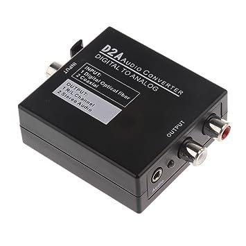 Gazechimp Cable de Fibra óptica Adaptador Convertidor de Audio Digital Diseñado para Conmutación