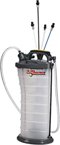 Lumax LX-1314 Gold/Silver Manual/Pneumatic 2-in-1 Fluid Extractor (, 2.6G 10L Capacity)