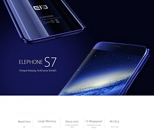 Ele Elephone S7 Smartphone Android 6.0 (5.5Inch Fhd Pantalla ...