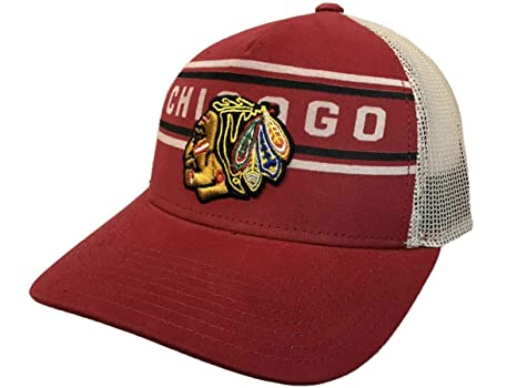 11daf74fa47 Image Unavailable. Image not available for. Color  adidas Chicago Blackhawks  Red CCM Vintage Mesh Structured Snapback Hat Cap