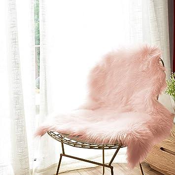 Amazoncom Carvapet Luxury Soft Faux Sheepskin Chair Cover Seat