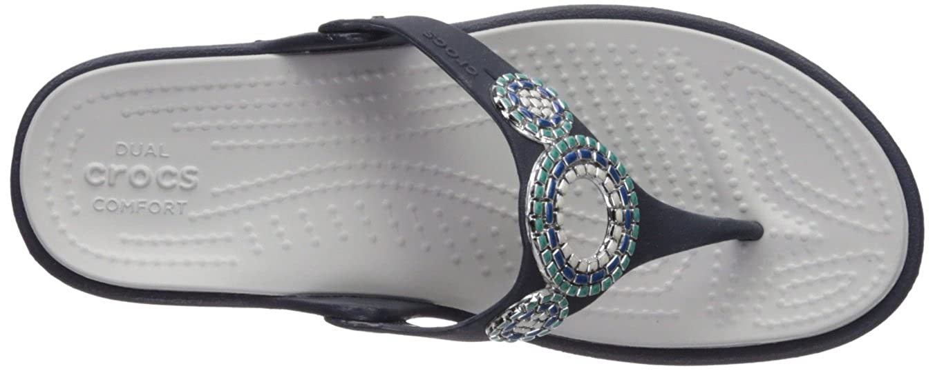 13c3784f8 Crocs Women s Sanrah Diamante Flip Wedges  Amazon.ca  Shoes   Handbags
