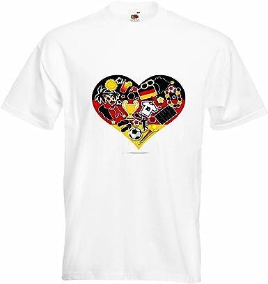 T-Shirt Camiseta Remera FÚTBOL FÚTBOL Alemania 2018 Copa Mundial Alemania World Champion Rusia Rusia semifinales Cuartos de Final en Blanco: Amazon.es: Ropa y accesorios