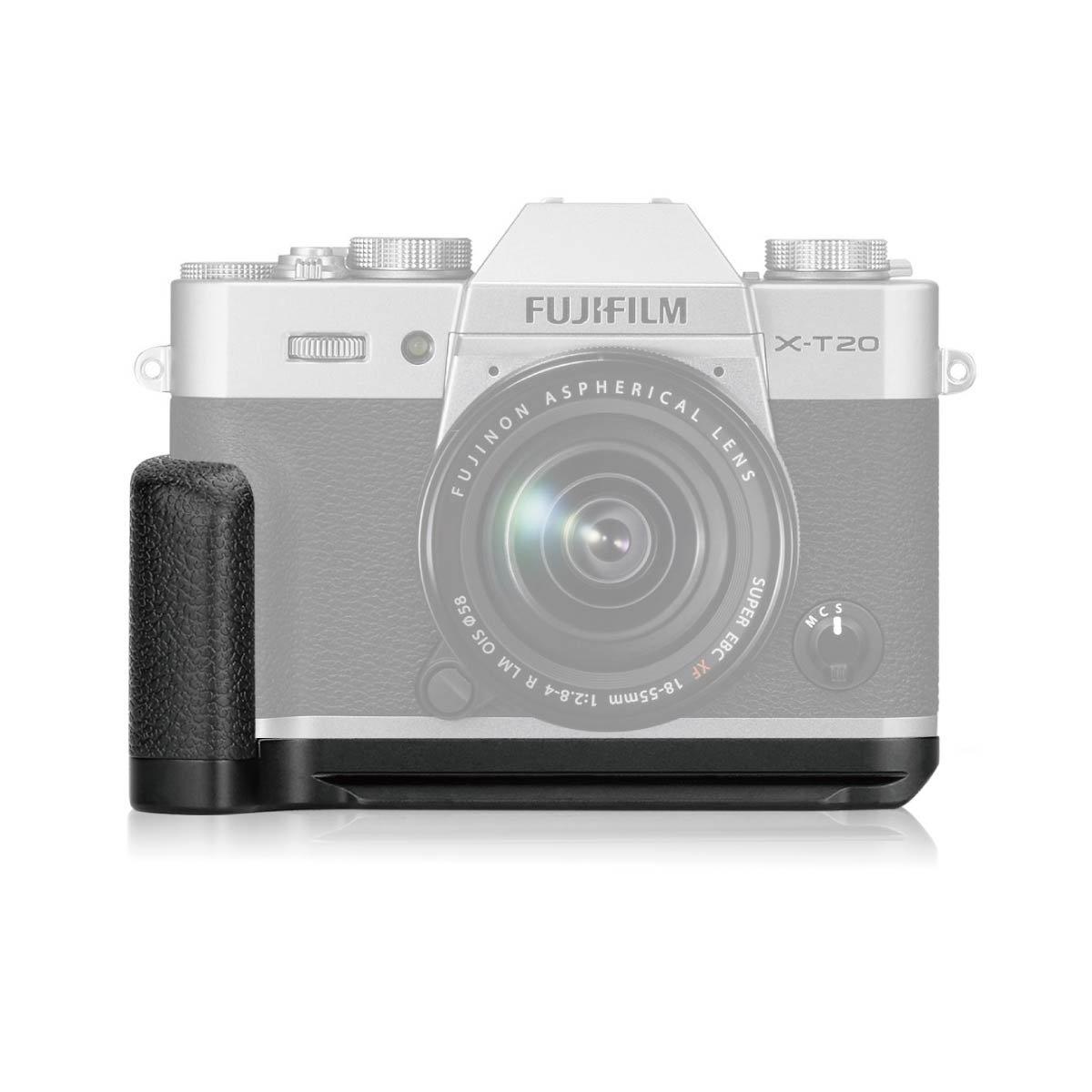 Meike XT20G Aluminum Alloy Hand Grip Quick Release Plate L Bracket for Fujifilm X-T30 X-T20 X-T10 by Meike